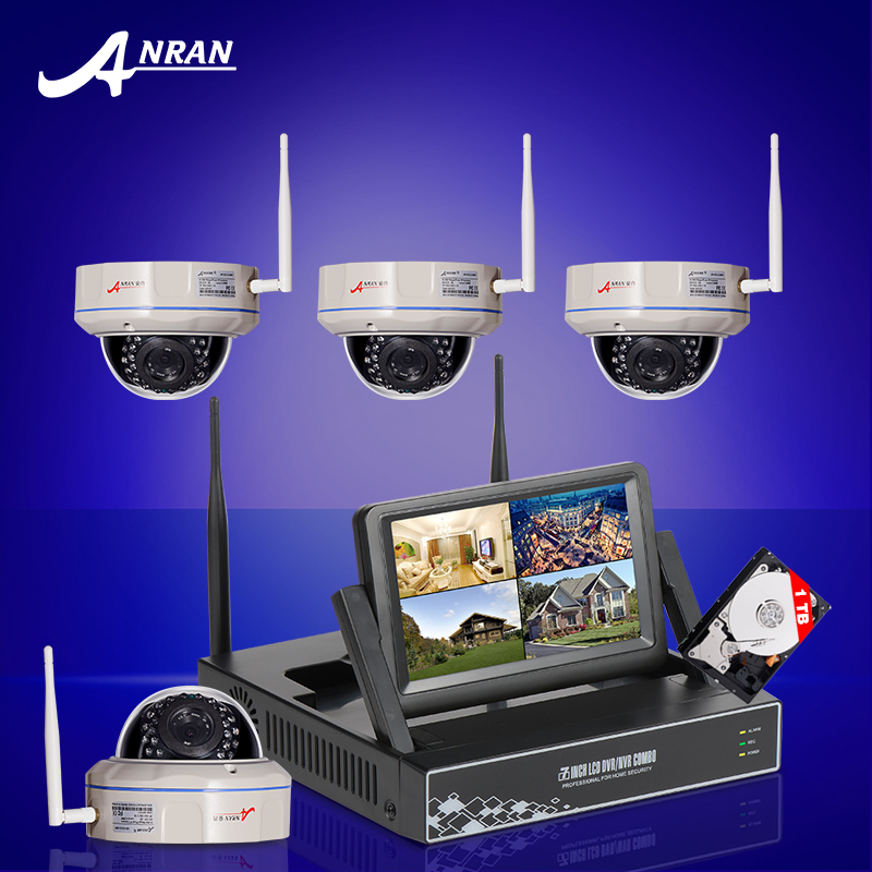 ANRAN 4CH Wireless CCTV System 7 Inch Screen HDMI NVR Kit P2P 720P Night Vision Fixed outdoor Security WIFI Dome Camera 1TB HDD(China (Mainland))