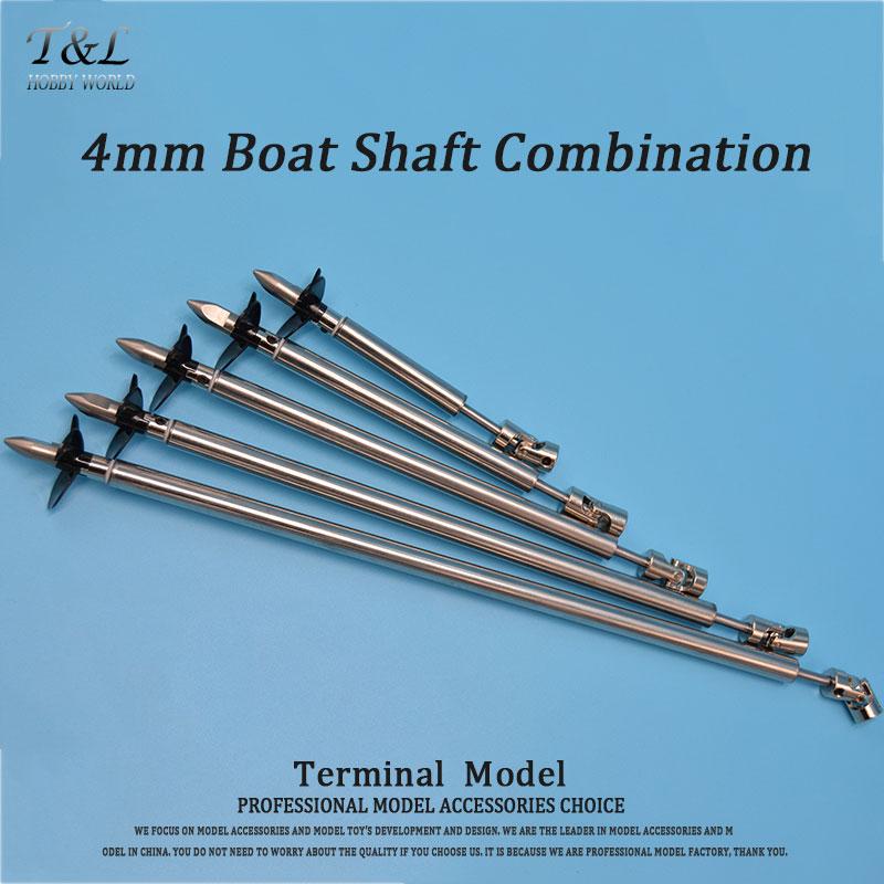 Model Boat 4mm Ship Shaft Drive Shaft +Cardan Joint+3 Blades Propeller +Stainless Steel Shaft Sleeve+Gasket/set(China (Mainland))