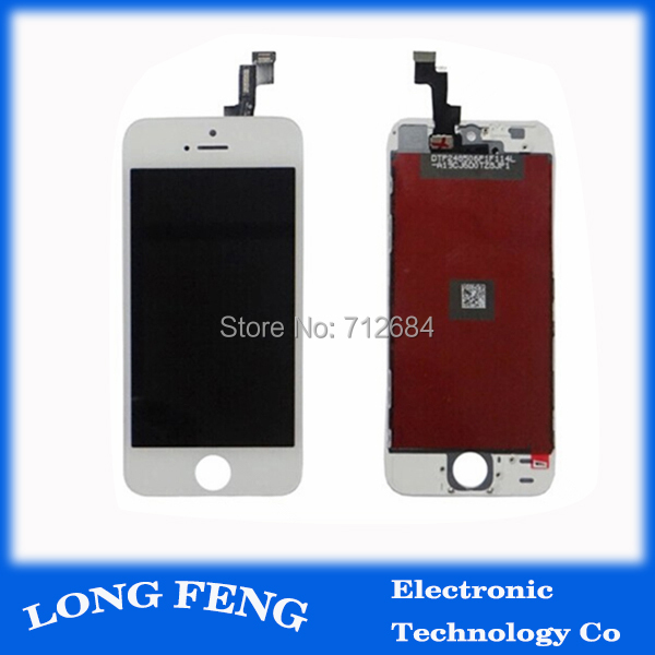 100% Test White / Black LCD For iPhone 5S LCD Screen Display With Touch Screen Digitizer Assembly Free Shipping(China (Mainland))