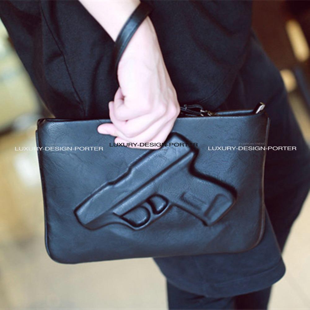 Designer fashion bag 3D Gun Clutch Women handbag Pistol Embossed wristlet Bolsa(China (Mainland))