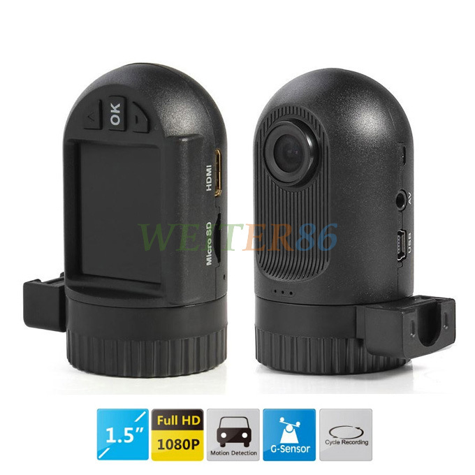 "Mini Size Car DVR Camera GS608 OEM 0801 with 1.5"" LCD Full HD 1920*1080P 25FPS + 120 Degrees Wide Angle + G-Sensor Free Shipping(China (Mainland))"