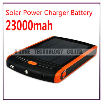 Free shippig 23000MAH Portable  Rechargeable Solar  Battery Charger For LaptopSmart Phones (CE,FCC,ROHS)