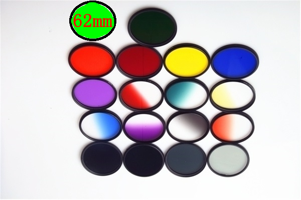 62mm Camera Lens Color Filter for Sony A57 A77 A65 A55 18-135mm Lens for Canon 70-200 for Nikon 18-105 Sigma Tamron 18-200 Lens(China (Mainland))