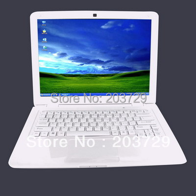 Wholesale Free shipping Laptop computer 13 3inch display Intel n2500 N2600 dual core optional 2GB 320GB