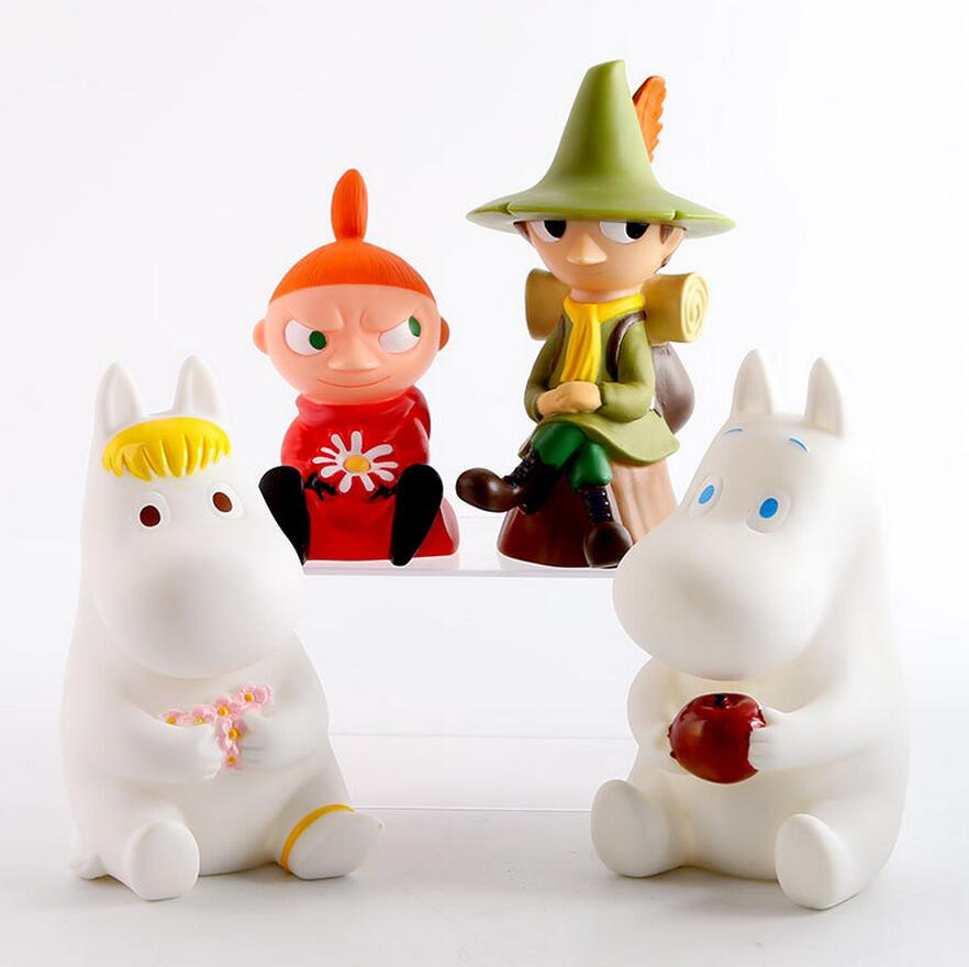 1pcs Vinyl doll Japanese small fertilizer Moomin family Ami Shili Qi doll cute piggy bank piggy Decoration 20151208<br><br>Aliexpress