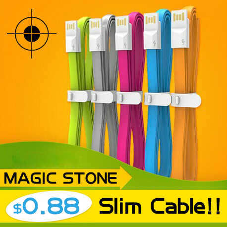 MS-B V8 Micro USB Data Charger Cable For Android Micro USB Cables Cell Phone 0.2M Colorful Noodle Flat Cable Wholesale(China (Mainland))