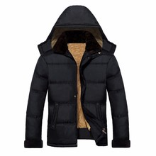 2016 Winter Men Jackets Coats Outdoor Wear Warm Casual Clothes With Fur Coat Outwear Jacket Overcoat Zipper Outwear Plus Size(China (Mainland))