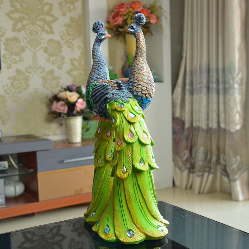 Unique delicate home decor resin crafts exquisite gift for Home decorations peacock