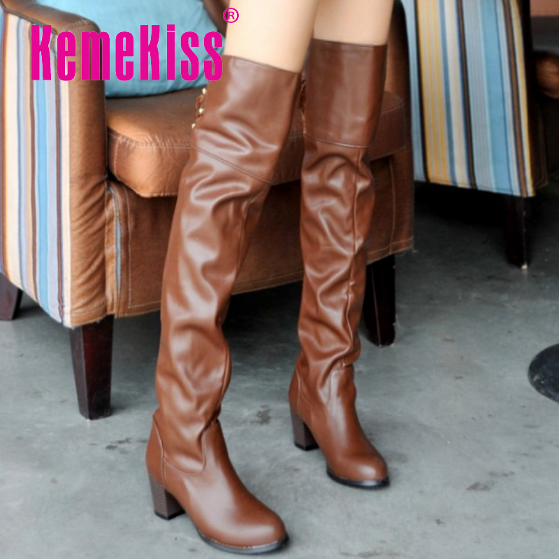 CooLcept Free Shipping over knee half high heel boots women snow fashion winter warm boot footwear shoes P9943 EUR size 34-46<br><br>Aliexpress