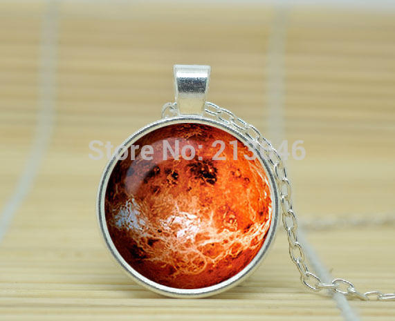 1pcs PLANET VENUS NECKLACE solar system jewelry planet neptune pendant jewelry Galaxy necklace Glass Cabochon Necklace A0796(China (Mainland))