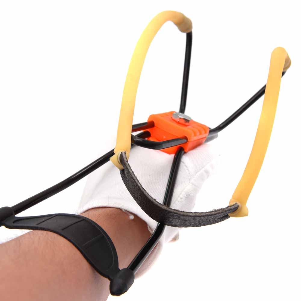 Hot Sale Powerful Slingshot Wrist Brace Support Shot Slingshot Bow Catapult Outdoor Hunting Slingshot(China (Mainland))