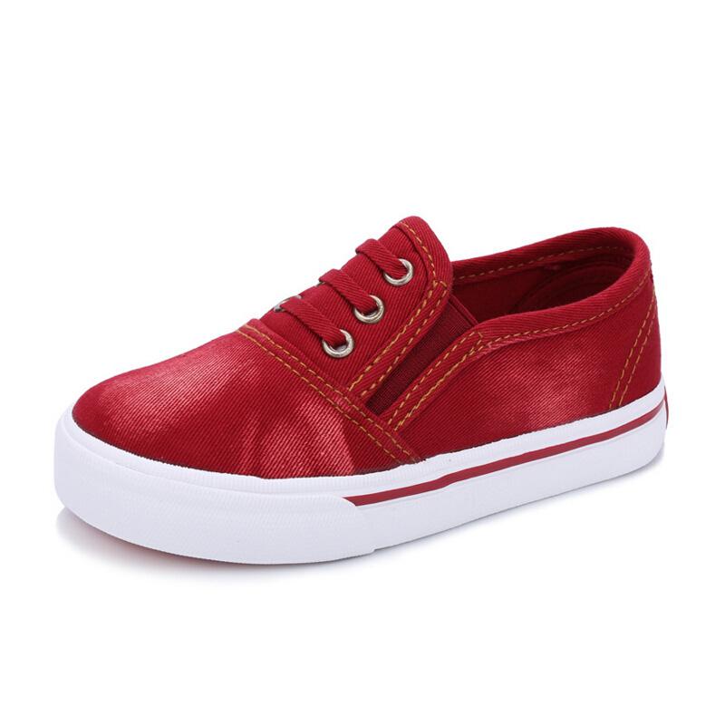 Latest Style Denim Vamp For Children Sports Shoes Boys Girls Walking Shoe Slip-on Leisure Footwear Kids Sneakers(China (Mainland))