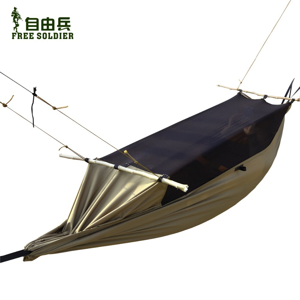 outdoor camping outdoor survivor mult-ifunction portable mosquitoes hammock wear-resisting tent 160-180cm height Free soldier(China (Mainland))