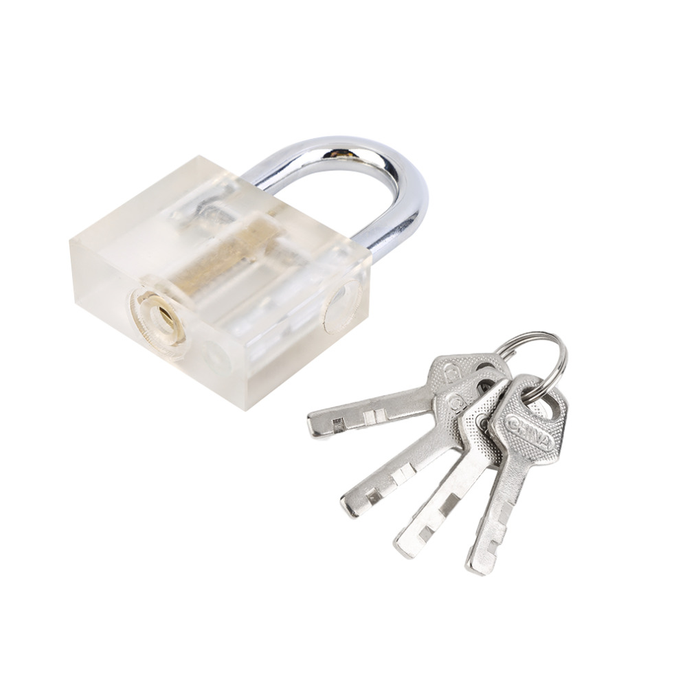 Crystal Security Lock Key Home Anti-theft Door Lock 4 Keys String Brand New(China (Mainland))
