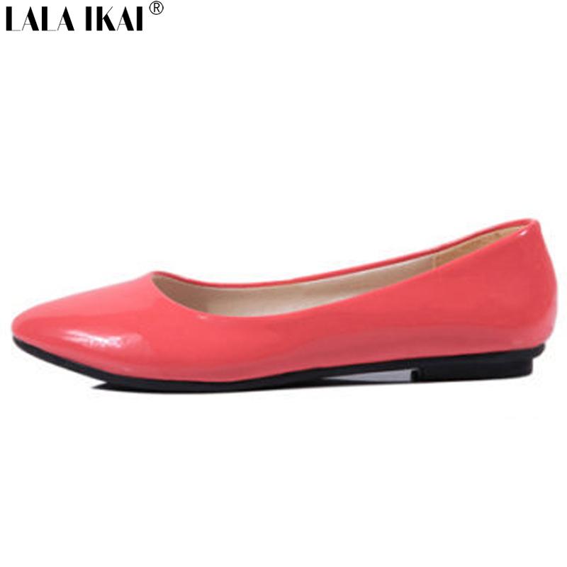 Гаджет  Whole Sale 2015 Women Ballet Flat Shoes High Quality Patent Leather Women Flats Zapatos Mujer Sapato Feminino OL Shoes XWA0090-2 None Обувь