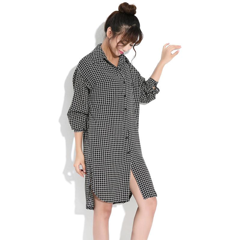 European Fashion Style 2015 New Women Long Shirts Plus Size Shirt Dress Loose Casual Female ...