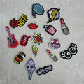 fashion pattern cloth logo patch hot melt adhesive applique embroidery patch DIY clothing accessories patch C413