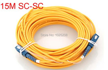 15 Meters SC fiber patch cord jumper cable, SM, simplex - 365shopping-day store