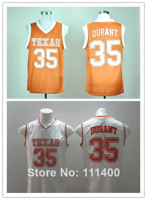 2014 Christmas Clearance Sale NCAA College Basketball Jersey Texas Longhorns 35 Kevin Durant Orange white ncaa basketball jersey(China (Mainland))