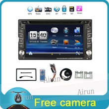 "2016 New 6.2"" Touch Screen car dvd player gps navigation USB SD Bluetooth FM 2din in dash TFT support rear view camera input(China (Mainland))"