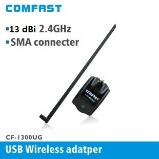 Comfast High Power RTL8187L 54Mbps 13dBi Antenna Wireless WiFi Adapter with 1.2m usb cable line wifi dongle(China (Mainland))