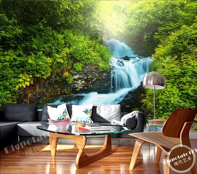 online kaufen gro handel wald wandbild tapete aus china. Black Bedroom Furniture Sets. Home Design Ideas