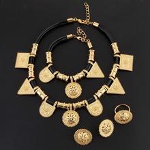 Wholesale Eritrea Habesha Ethiopian Jewelry Gold Necklace Bracelet Earring Ring Set 24k Gold Plated Africa Wedding Women(China (Mainland))
