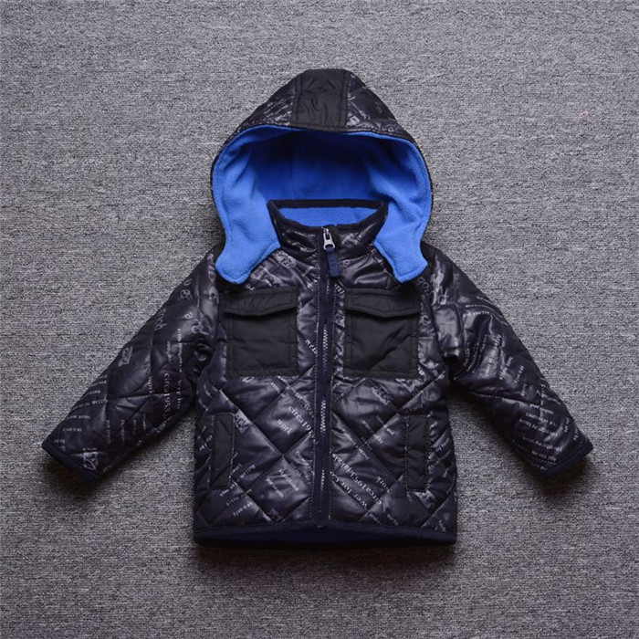 Free Shipping! Boys Winter Coats, Children thicken padded outwear baby snow coats 4pcs/lot d761