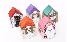 1PCS Hot Sale Cute Funny kawaii Dog House Post It Tab Self-Adhesive Sticky pad Paint Paper Sticker Color Random Shipping(China (Mainland))
