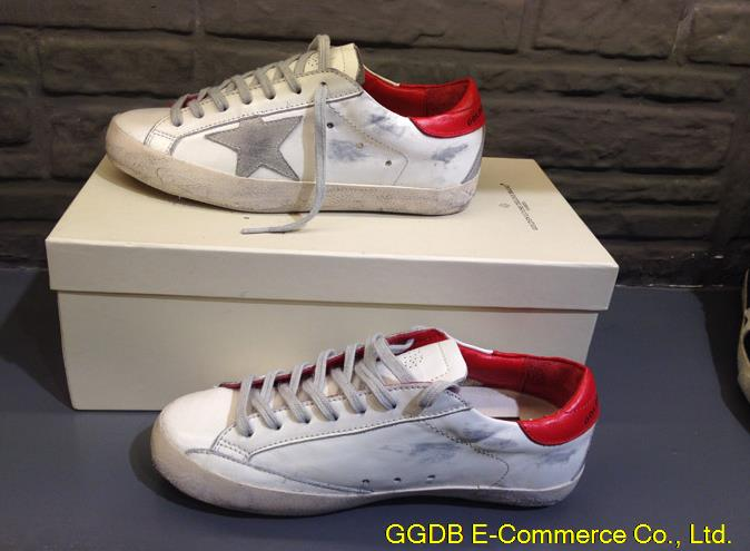 2015 Golden Goose Superstar Sneakers Men Woman Low Cut Shoes Italy Brand Genuine Leather White GGDB Sneaker Uomo Scarpe Donna