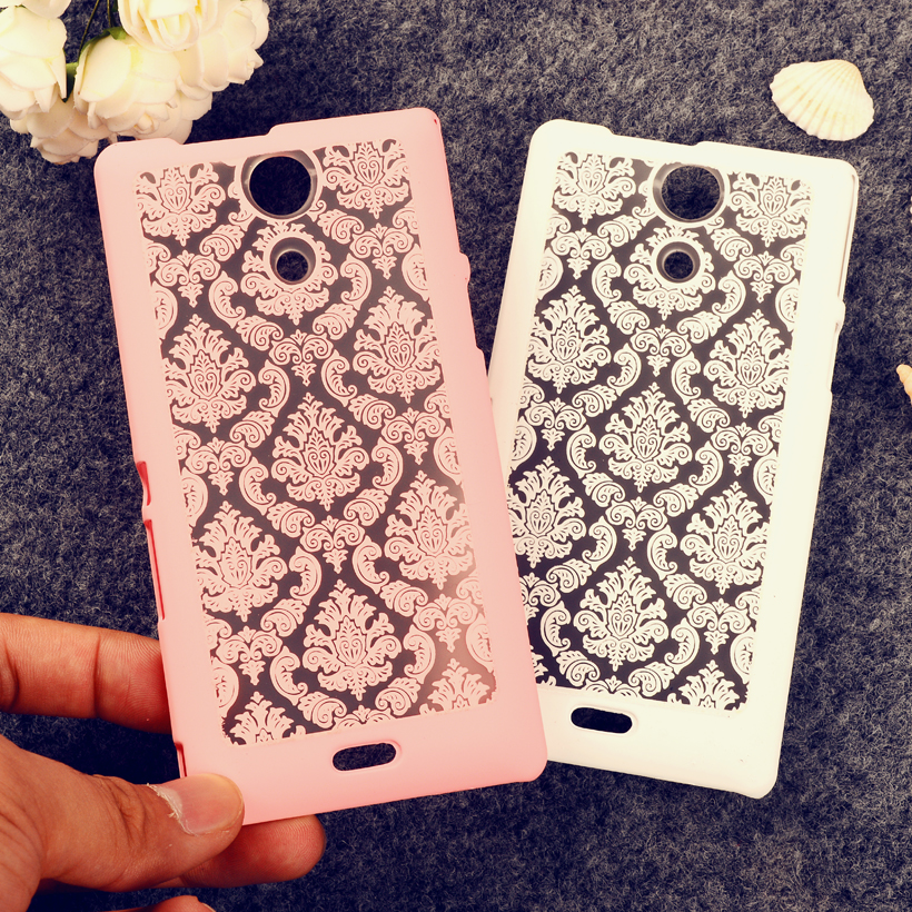 Palace Paper Cut Flower Pattern mobile phone skin case Cover For Sony Xperia ZR M36h C5502 C5503 cases Floral Pattern shell case(China (Mainland))
