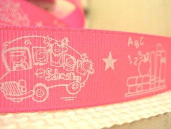 50Y14447 david ribbon 7/8 '' school bus study star grosgrain ribbon hairbows printed ribbon freeshipping