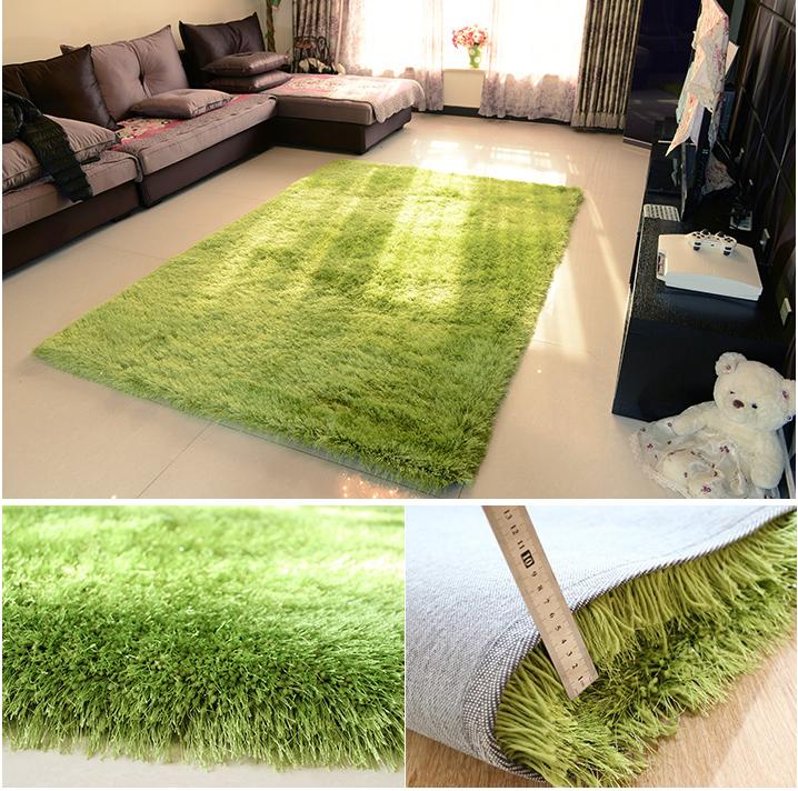 Alfombra cama mesa de centro 6 cm verde alambre el stico for Alfombra verde para jardin