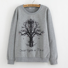 New 2016 Autumn Women Tees fashion tree print pullover Plus-size loose knitted sweater Casual Women sueter inverno(China (Mainland))