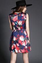 2015 spring summer women ladies dress sexy Temperament slim print dresses LYY T2863 DFF 144(China (Mainland))