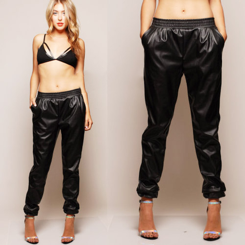 Luxury  Women39s Leather Pants Hot Pantstight Pantssweat Pantsblack Pants
