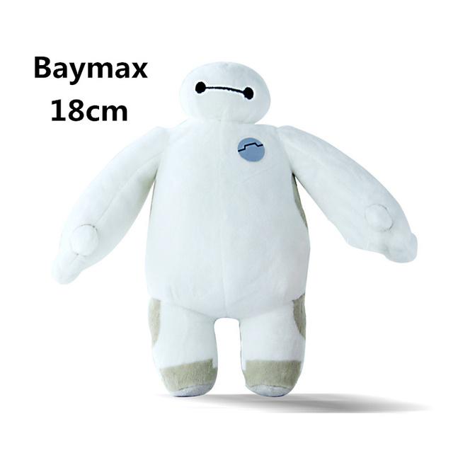 2015 новый большой герой 6 Baymax плюшевые игрушки куклы робот 18 см 7 дюймов оптовая продажа розничная сумка bighero6 фаршированные плюшевые подарок на день рождения