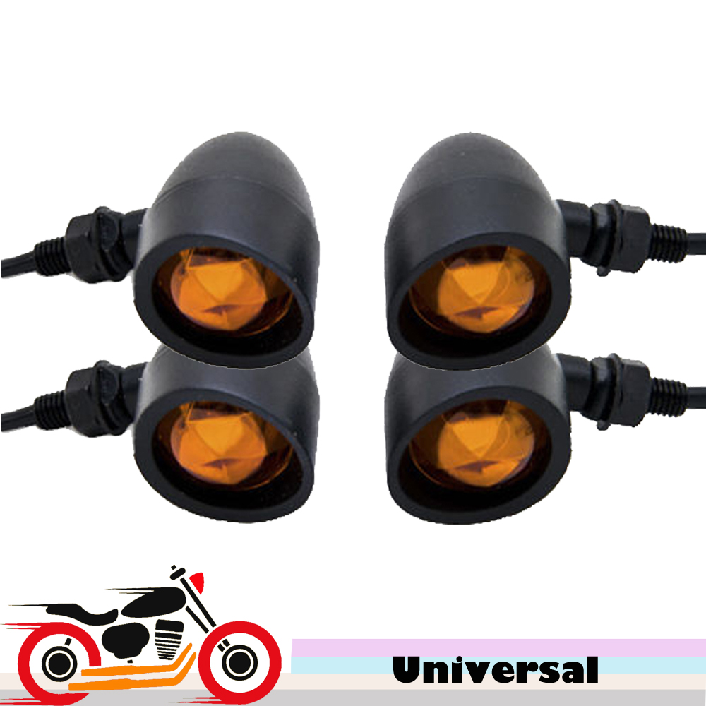 4x Motorcycle Motorbike Turn Signal Flasher Front Rear Indicator Light for For font b Harley b