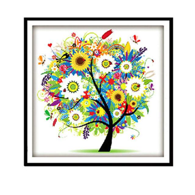 Popular14ct 40 * 40 см счетный вышивка крестом комплект вышивка комплект марка дизайн Colorful вал для дома декор подарок N787