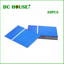 20pcs 52x76 mm Poly Solar Cell DIY 10w Solar Cell Phone Charger Solar Panel, Light, Fan, Free Shipping(China (Mainland))