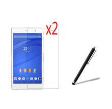 "Buy 3in1 2x LCD Clear Screen Protector Films Protective Film Guards +1x Stylus Sony Xperia Z3 Tablet Compact SGP621/ 641 8.0 8"" for $5.59 in AliExpress store"