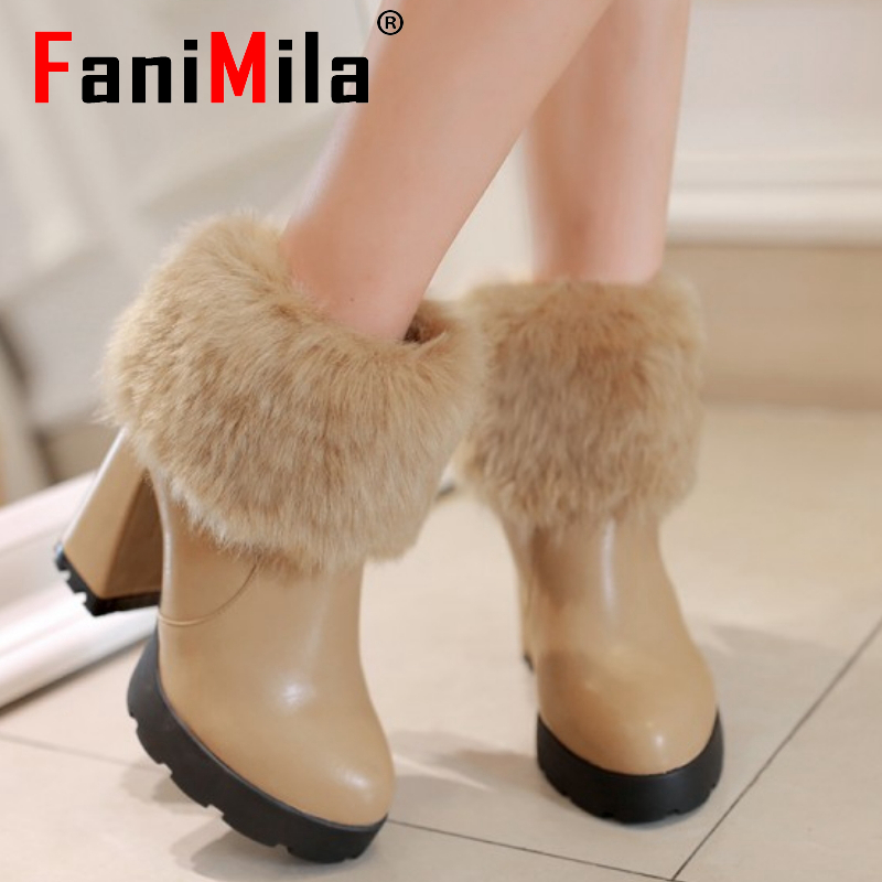 CooLcept Free shipping ankle high heel short boots women snow fashion winter warm boot footwear P15454 EUR size 34-39<br><br>Aliexpress