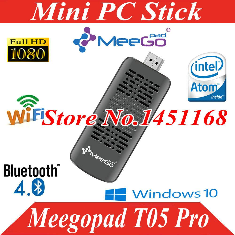 Meegopad T05 Pro Tv Stick Mini PC Windows10 Home version Cooling Fan Mini PC 2GB/32GB Intel Atom Quad Core Z3735F Wifi Bluetooth(China (Mainland))