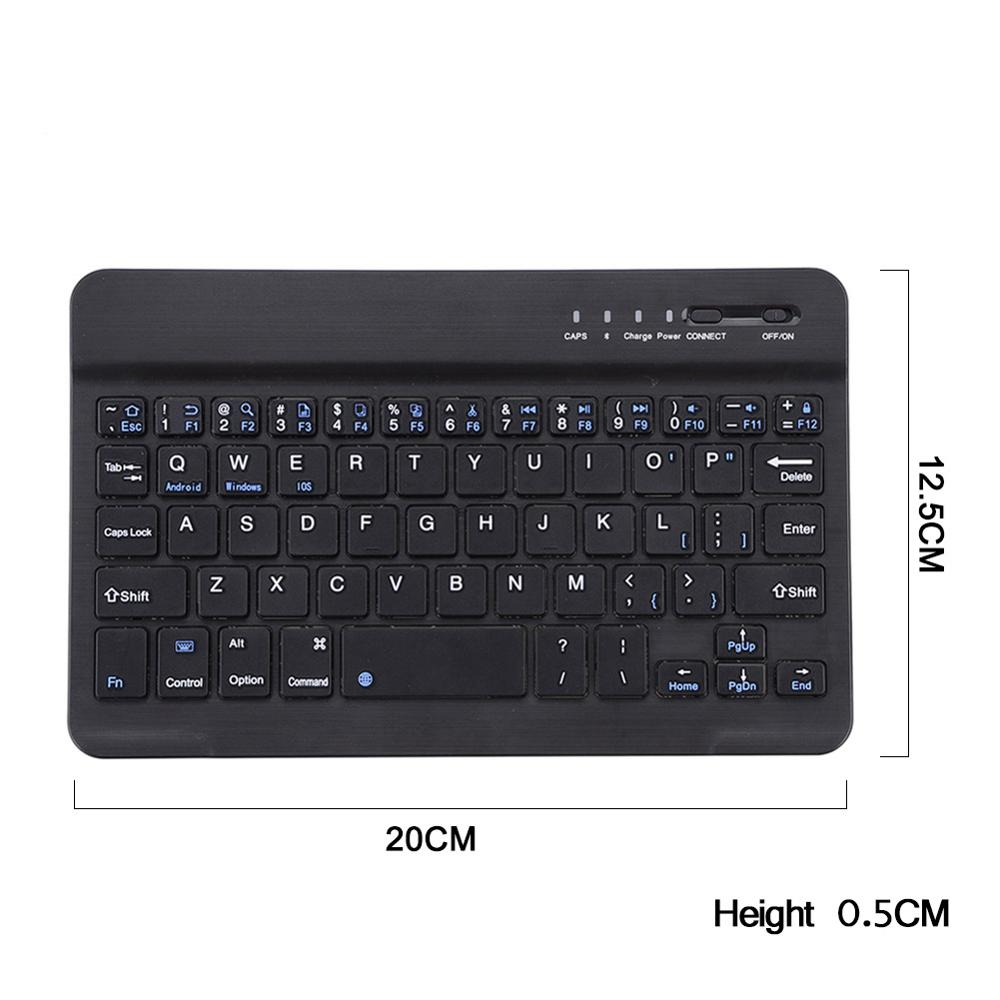 Universal 7 inches Quiet Slim Keyboard for iPad Galaxy Tabs IOS&Android Windows Tablets/Desktop/Laptop Mini Bluetooth Wireless(China (Mainland))