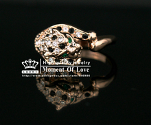 FREE SHIPPING RHS 002 1PCS high quality Fancy Brand Design 18K Rose Gold Plated with Crystals