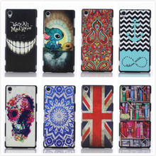 For Sony Xperia Z3 Protective Cases PC Plastic Painted Mobile Phone Case Cover For Sony Xperia Z3 D6603 D6643 D6653,PT044
