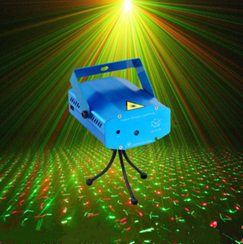 New Tripods 150MW Mini red and green laser stage lights moving party DJ stage lighting Auto strobe for luces disco(China (Mainland))