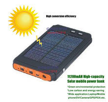 11200mAH Solar Charger External Battery Pack 4.2v 8.4v 12.6v 19v For Laptop Notebook iPhone 4s 5 5s 5c 6 Portable Power Bank(China (Mainland))