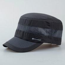 XdanqinX erkek şapkaları yaz örgü nefes beyzbol kapaklar spor Ultra ince moda rahat ayarlanabilir kafa boyutu Snapback düz kap(China)