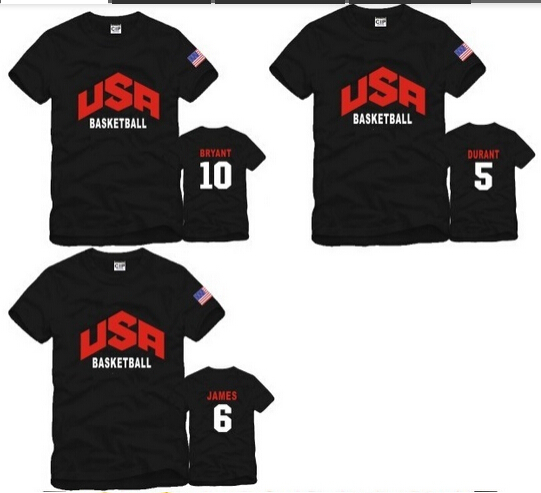 free shipping  hot sale Cheap Price American National Team Dream 10 USA Basketball t shirts kids t shirts 6 Color 100% cotton(China (Mainland))